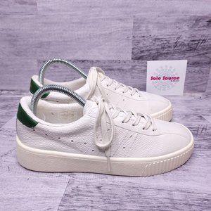 NEW Gola Super Court Leather Sneaker White Green 8